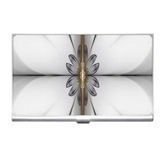 Fractal Fleur Elegance Flower Business Card Holders
