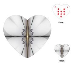 Fractal Fleur Elegance Flower Playing Cards (Heart)