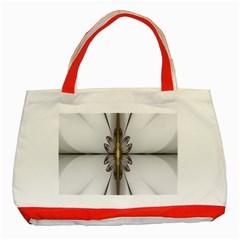 Fractal Fleur Elegance Flower Classic Tote Bag (Red)