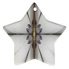 Fractal Fleur Elegance Flower Star Ornament (two Sides)