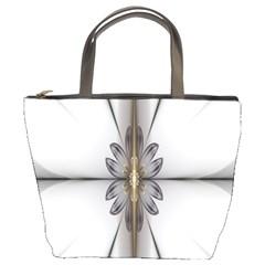 Fractal Fleur Elegance Flower Bucket Bags