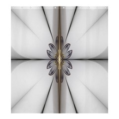 Fractal Fleur Elegance Flower Shower Curtain 66  X 72  (large)