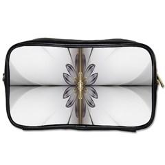Fractal Fleur Elegance Flower Toiletries Bags 2-Side
