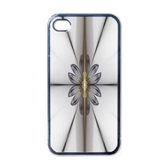 Fractal Fleur Elegance Flower Apple iPhone 4 Case (Black)
