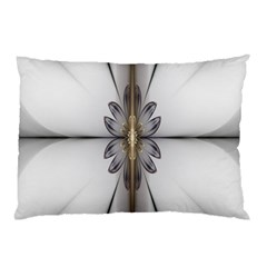 Fractal Fleur Elegance Flower Pillow Case (Two Sides)