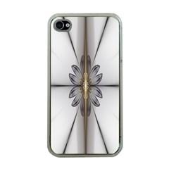 Fractal Fleur Elegance Flower Apple iPhone 4 Case (Clear)