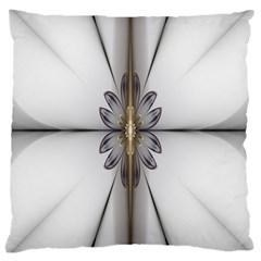Fractal Fleur Elegance Flower Large Cushion Case (Two Sides)