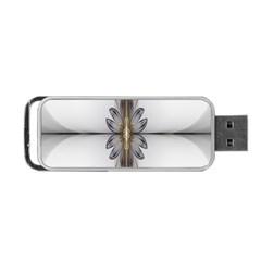 Fractal Fleur Elegance Flower Portable USB Flash (Two Sides)