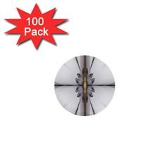 Fractal Fleur Elegance Flower 1  Mini Buttons (100 pack)