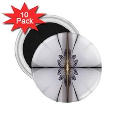 Fractal Fleur Elegance Flower 2.25  Magnets (10 pack)