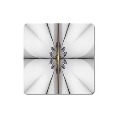 Fractal Fleur Elegance Flower Square Magnet
