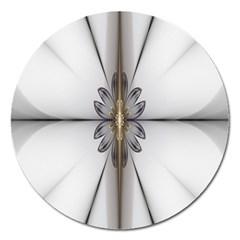 Fractal Fleur Elegance Flower Magnet 5  (Round)