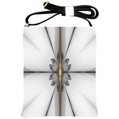 Fractal Fleur Elegance Flower Shoulder Sling Bags