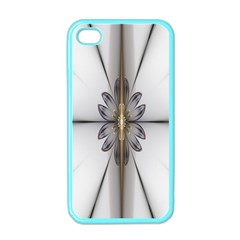 Fractal Fleur Elegance Flower Apple Iphone 4 Case (color)