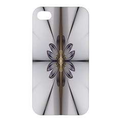 Fractal Fleur Elegance Flower Apple Iphone 4/4s Premium Hardshell Case