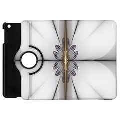 Fractal Fleur Elegance Flower Apple iPad Mini Flip 360 Case