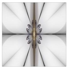 Fractal Fleur Elegance Flower Large Satin Scarf (Square)
