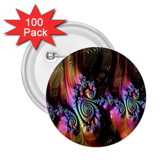 Fractal Colorful Background 2.25  Buttons (100 pack)