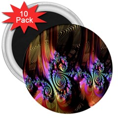 Fractal Colorful Background 3  Magnets (10 pack)