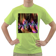 Fractal Colorful Background Green T-Shirt