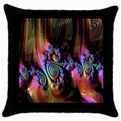 Fractal Colorful Background Throw Pillow Case (Black)