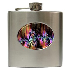 Fractal Colorful Background Hip Flask (6 oz)