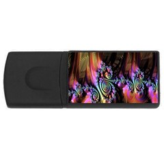 Fractal Colorful Background USB Flash Drive Rectangular (1 GB)