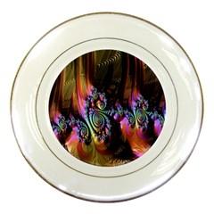 Fractal Colorful Background Porcelain Plates