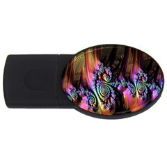 Fractal Colorful Background USB Flash Drive Oval (4 GB)