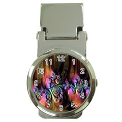 Fractal Colorful Background Money Clip Watches