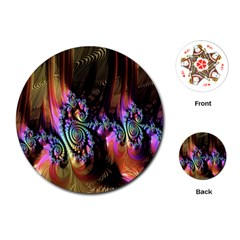 Fractal Colorful Background Playing Cards (Round)