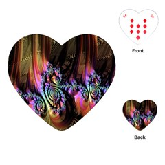 Fractal Colorful Background Playing Cards (Heart)
