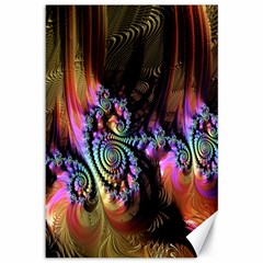 Fractal Colorful Background Canvas 12  X 18