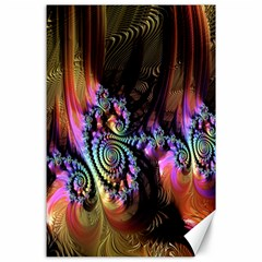 Fractal Colorful Background Canvas 24  x 36