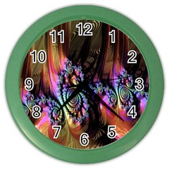 Fractal Colorful Background Color Wall Clocks