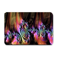 Fractal Colorful Background Small Doormat