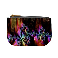 Fractal Colorful Background Mini Coin Purses