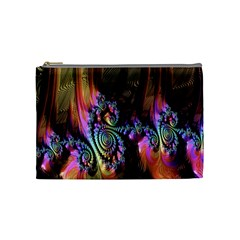 Fractal Colorful Background Cosmetic Bag (Medium)