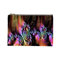 Fractal Colorful Background Cosmetic Bag (Large)