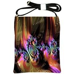 Fractal Colorful Background Shoulder Sling Bags