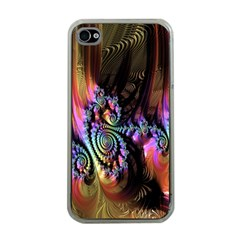 Fractal Colorful Background Apple iPhone 4 Case (Clear)