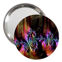 Fractal Colorful Background 3  Handbag Mirrors