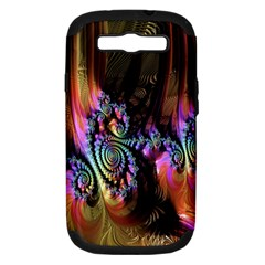 Fractal Colorful Background Samsung Galaxy S Iii Hardshell Case (pc+silicone)