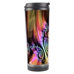 Fractal Colorful Background Travel Tumbler