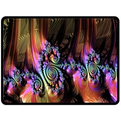 Fractal Colorful Background Double Sided Fleece Blanket (large)