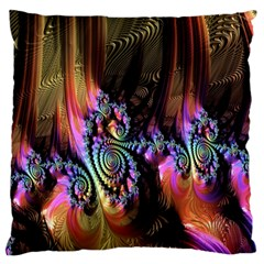 Fractal Colorful Background Large Flano Cushion Case (Two Sides)