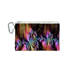 Fractal Colorful Background Canvas Cosmetic Bag (s)