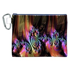 Fractal Colorful Background Canvas Cosmetic Bag (XXL)