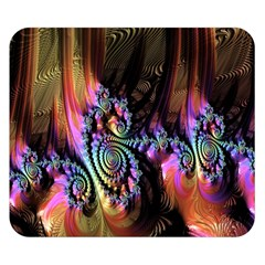 Fractal Colorful Background Double Sided Flano Blanket (Small)