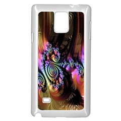 Fractal Colorful Background Samsung Galaxy Note 4 Case (white)